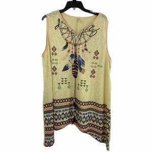 India Boutique Tribal Feather Tassel dress coverup